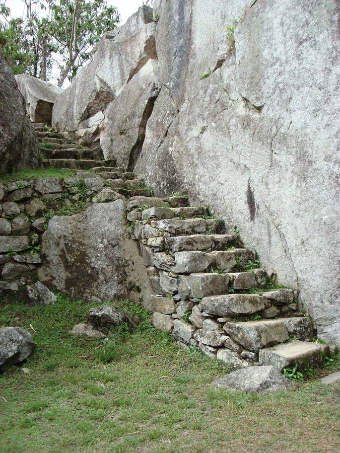 Πέτρινα βήματα σε Machu Picchu στοκ εικόνες με δικαίωμα ελεύθερης χρήσης