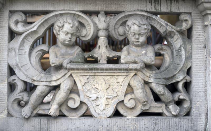 Πέτρινες bas-ανακουφίσεις του Γντανσκ στοκ εικόνες