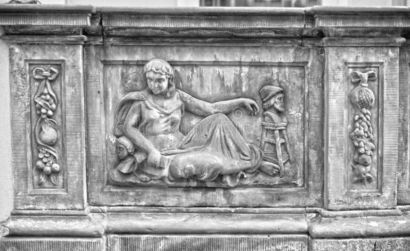 Πέτρινες bas-ανακουφίσεις του Γντανσκ στοκ εικόνα