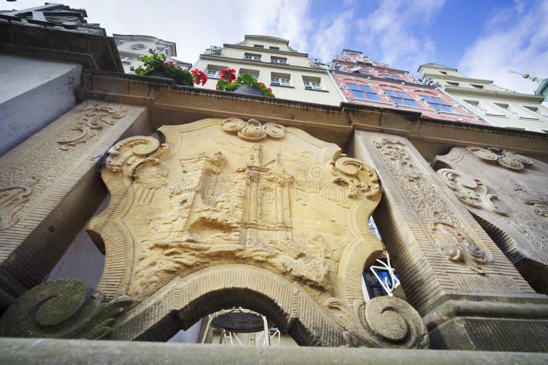 Πέτρινες bas-ανακουφίσεις του Γντανσκ στοκ φωτογραφίες