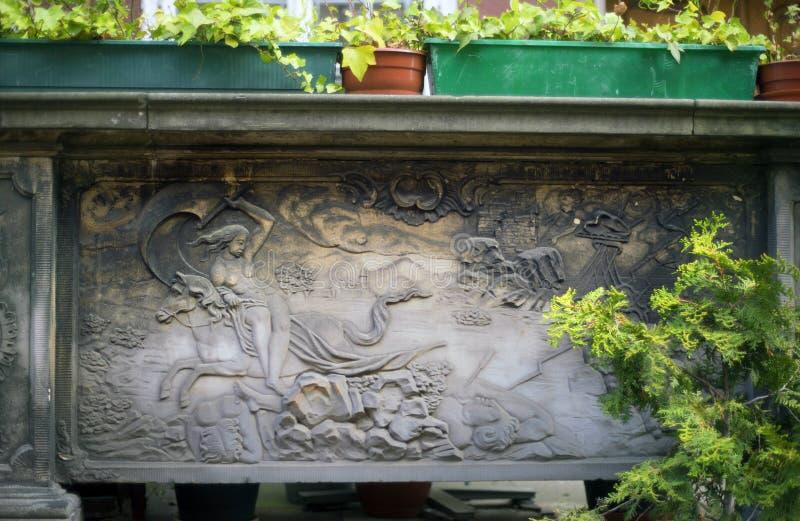 Πέτρινες bas-ανακουφίσεις του Γντανσκ στοκ φωτογραφία με δικαίωμα ελεύθερης χρήσης