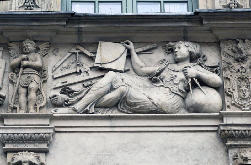 Πέτρινες bas-ανακουφίσεις του Γντανσκ στοκ φωτογραφίες με δικαίωμα ελεύθερης χρήσης