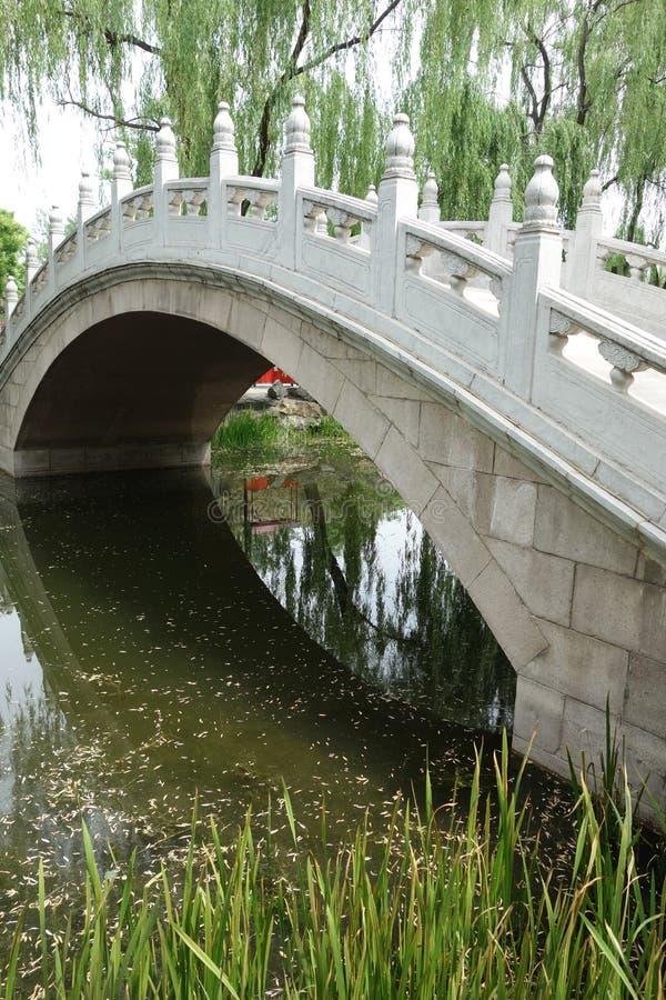 Πέτρινη γέφυρα στο Πεκίνο Yuanmingyuan στοκ εικόνα