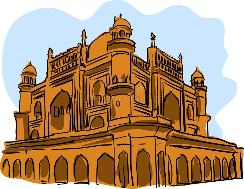 Πέτρινη διανυσματική απεικόνιση ναών για τα σχέδια διανυσματική απεικόνιση