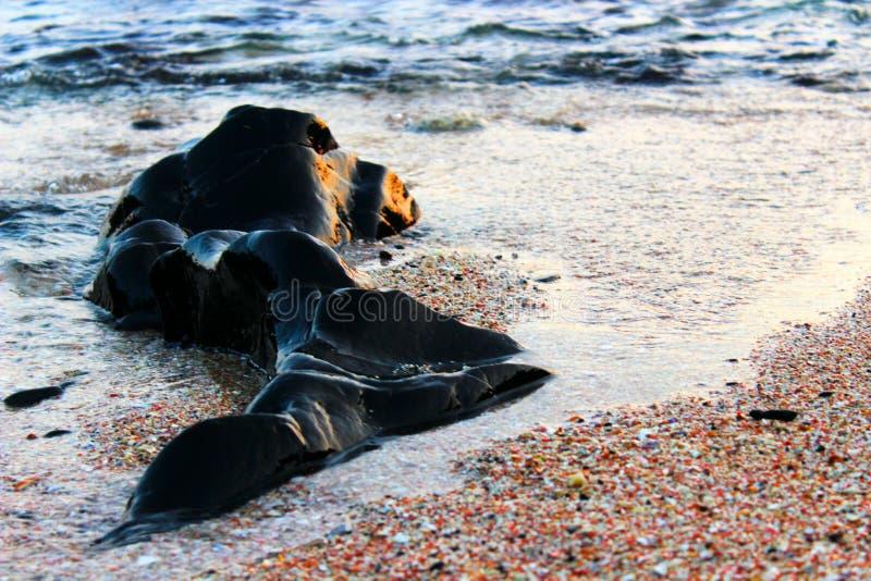 Πέτρινη παραλία στοκ φωτογραφίες με δικαίωμα ελεύθερης χρήσης