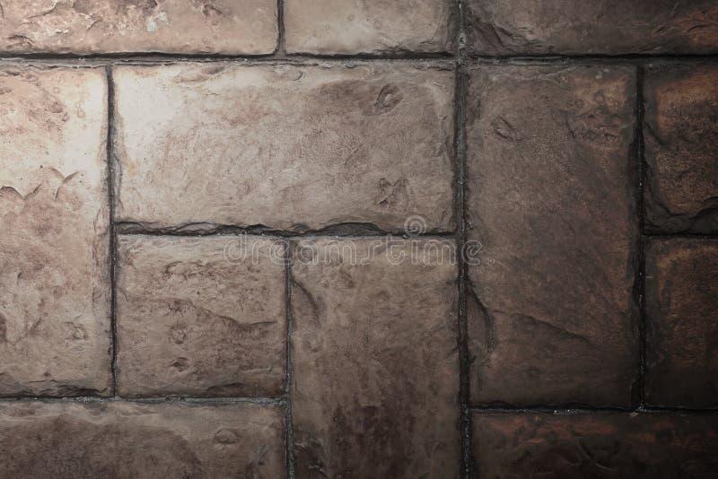 Πέτρινη σύσταση υποβάθρου τουβλότοιχος τσιμέντου κεραμιδιών με το φωτισμό FR στοκ φωτογραφία με δικαίωμα ελεύθερης χρήσης
