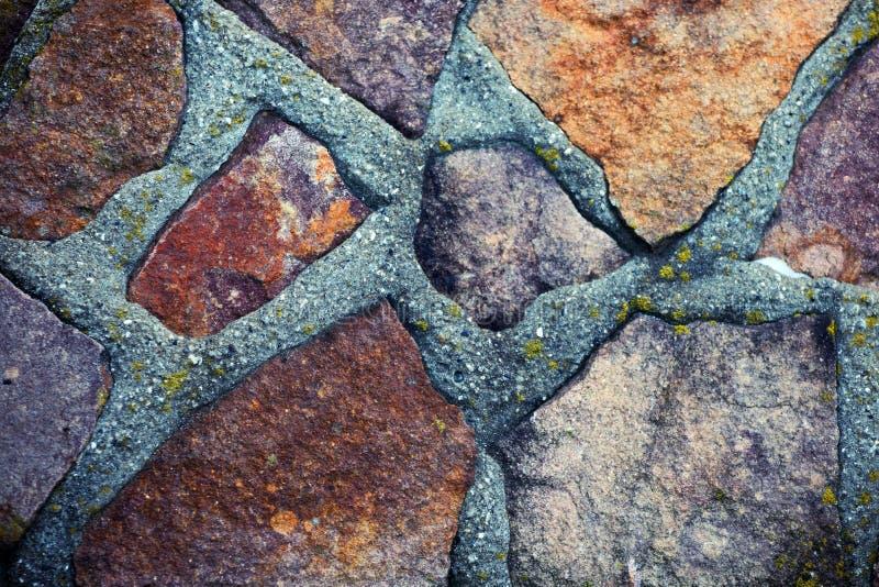 Πέτρινη φυσική σύσταση τούβλου τοίχων Sharped στοκ φωτογραφίες