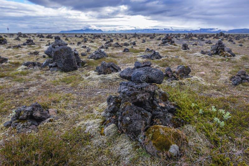 Πέτρινοι τύμβοι στην Ισλανδία στοκ φωτογραφίες