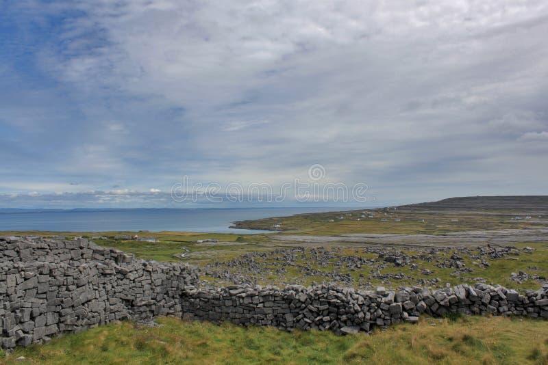 Πέτρινοι φράκτες στην ατλαντική ακτή της Ιρλανδίας στοκ εικόνες με δικαίωμα ελεύθερης χρήσης