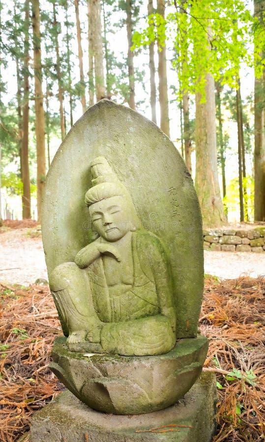 Πέτρινος ιαπωνικός Θεός στοκ φωτογραφίες με δικαίωμα ελεύθερης χρήσης