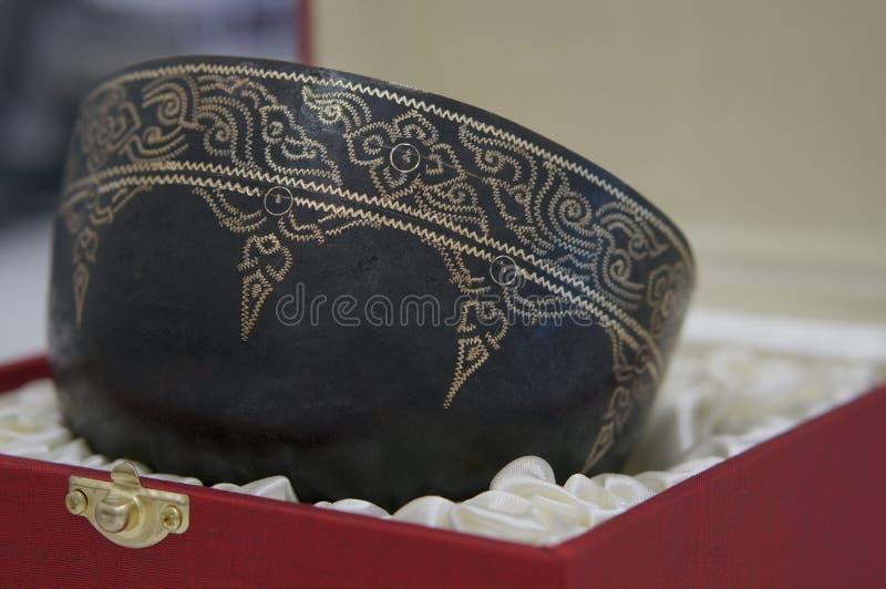 Πέτρινος-καθορισμένο κύπελλο χειροποίητο στην Ταϊλάνδη στοκ εικόνα