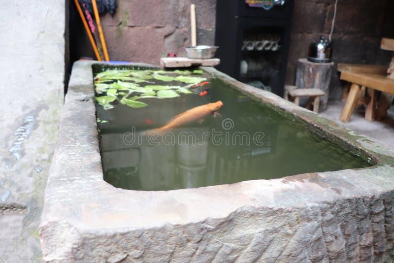 Πέτρινος κύλινδρος νερού quadrangle στοκ φωτογραφία με δικαίωμα ελεύθερης χρήσης