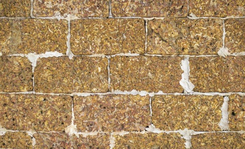 Πέτρινος τοίχος φιαγμένος από ελαφρόπετρα στοκ εικόνες