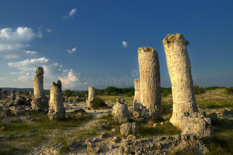 Πέτρινο δάσος φαινομένου φύσης, Βουλγαρία/kamani Pobiti/ στοκ φωτογραφία με δικαίωμα ελεύθερης χρήσης