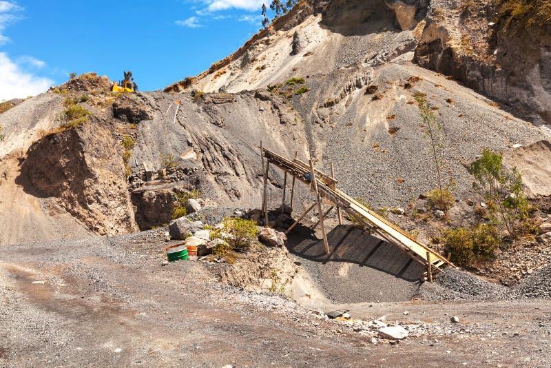Πέτρινο λατομείο, βουνό του Ισημερινού, Νότια Αμερική, Άνδεις στοκ φωτογραφίες με δικαίωμα ελεύθερης χρήσης