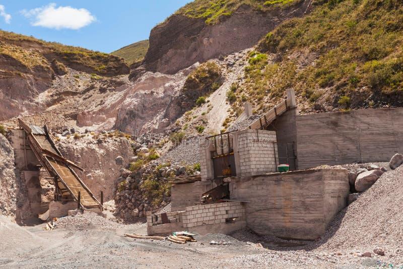 Πέτρινο λατομείο, βουνό του Ισημερινού, Νότια Αμερική, Άνδεις στοκ φωτογραφίες