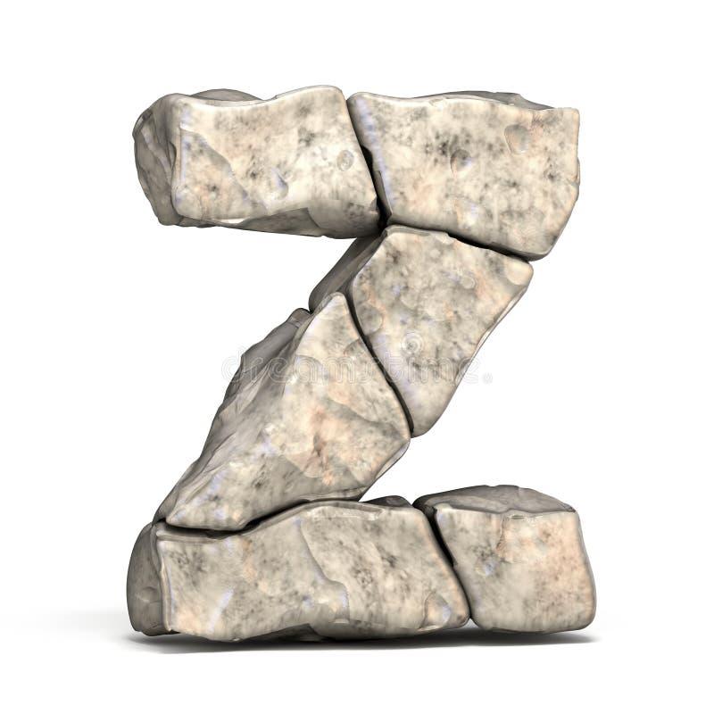 Πέτρινο γράμμα Ζ πηγών τρισδιάστατο διανυσματική απεικόνιση