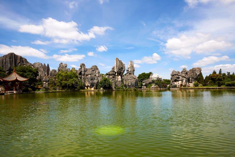 Πέτρινο δασικό παγκόσμιο γεωλογικό πάρκο Kunming, Yunnan, Κίνα στοκ φωτογραφία με δικαίωμα ελεύθερης χρήσης