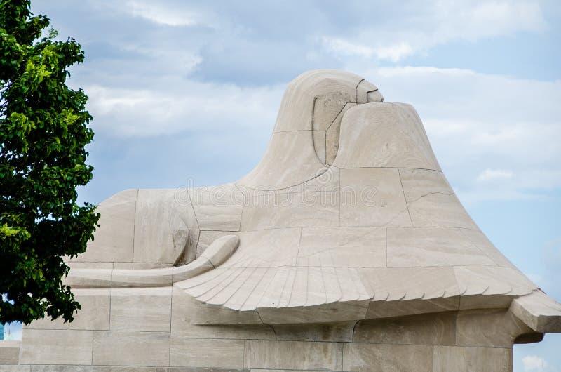 Πέτρινο εθνικό WWI μουσείο sphinxe στην ελευθερία Memor στοκ φωτογραφία