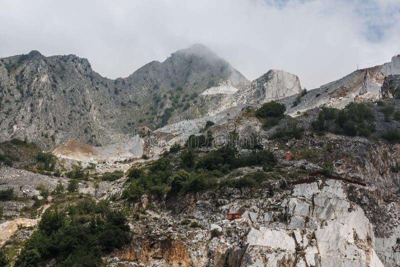 Πέτρινο κοίλωμα Carara στην Ιταλία στοκ εικόνες