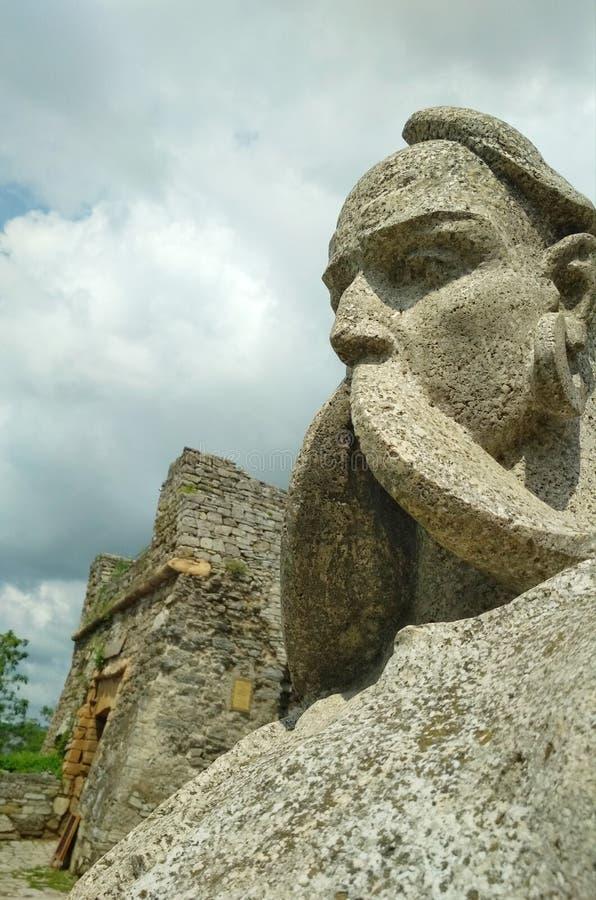 Πέτρινο μνημείο, Cossack, kamenets-Podolsky, Ουκρανία στοκ εικόνες