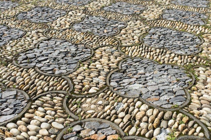 Πέτρινο πεζοδρόμιο χλωρίδας στοκ φωτογραφία