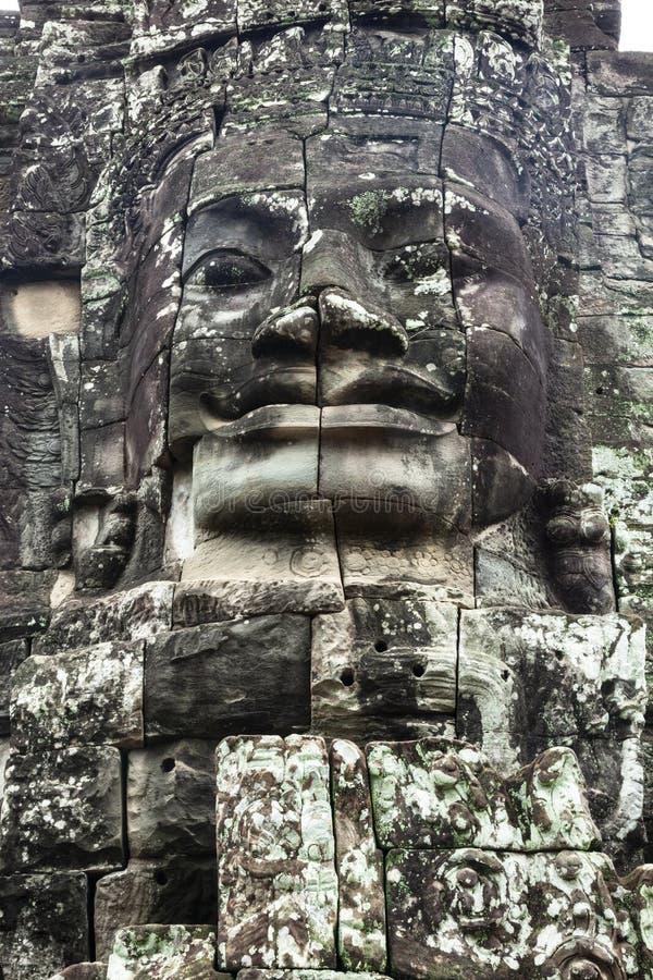 Πέτρινο πρόσωπο στην Καμπότζη στοκ φωτογραφίες