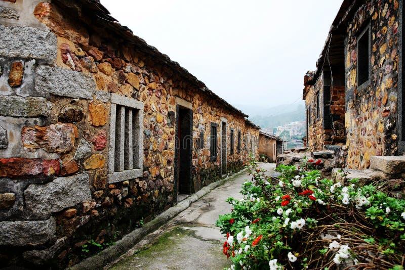 Πέτρινο σπίτι οικοδόμησης στοκ εικόνες