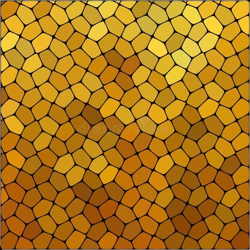 Πέτρινο σχέδιο επίστρωσης πιάτων Οι αφηρημένες γεωμετρικές ζωηρόχρωμες στρογγυλευμένες hexagon μορφές διακοσμούν τη διανυσματική  ελεύθερη απεικόνιση δικαιώματος