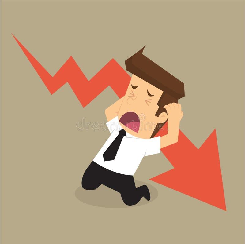 Πίεση επιχειρηματιών, πτώση διανυσματική απεικόνιση