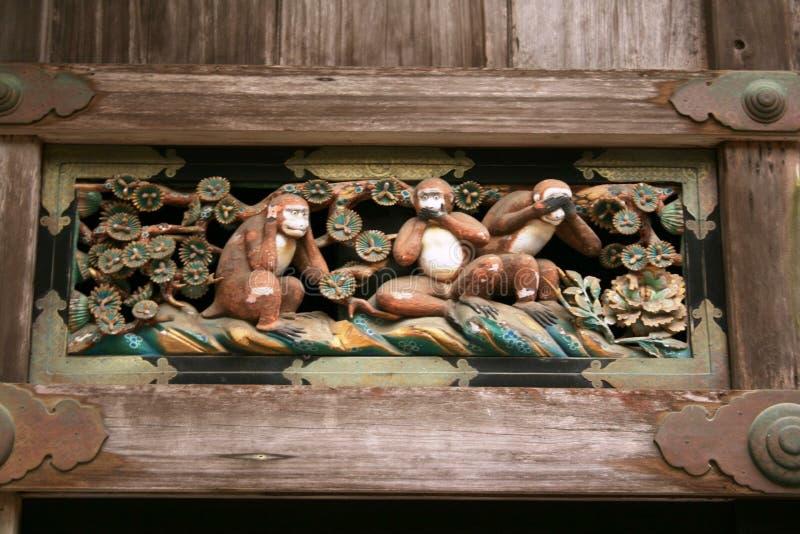 3 πίθηκοι στοκ φωτογραφία με δικαίωμα ελεύθερης χρήσης