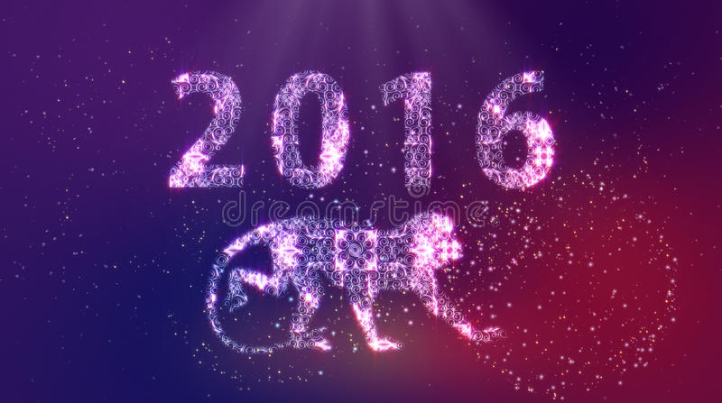 2016 πίθηκος καλής χρονιάς στοκ φωτογραφία με δικαίωμα ελεύθερης χρήσης