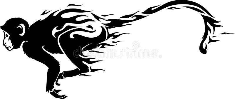 Πίθηκος πυρκαγιάς διανυσματική απεικόνιση