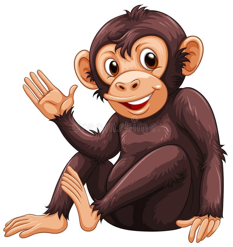 Πίθηκος διανυσματική απεικόνιση