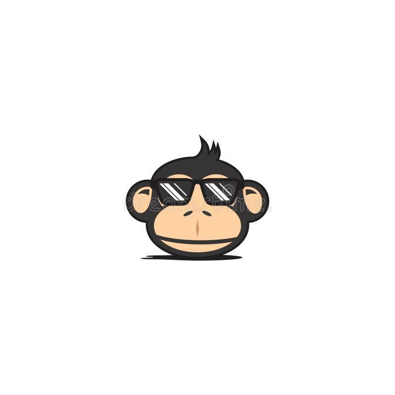 Πίθηκος Fungky δροσερός διανυσματική απεικόνιση