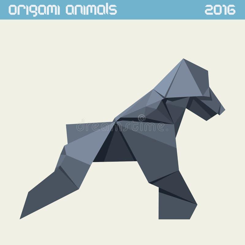 Πίθηκος Origami Διανυσματική απλή επίπεδη απεικόνιση Νέο έτος 2016 απεικόνιση αποθεμάτων