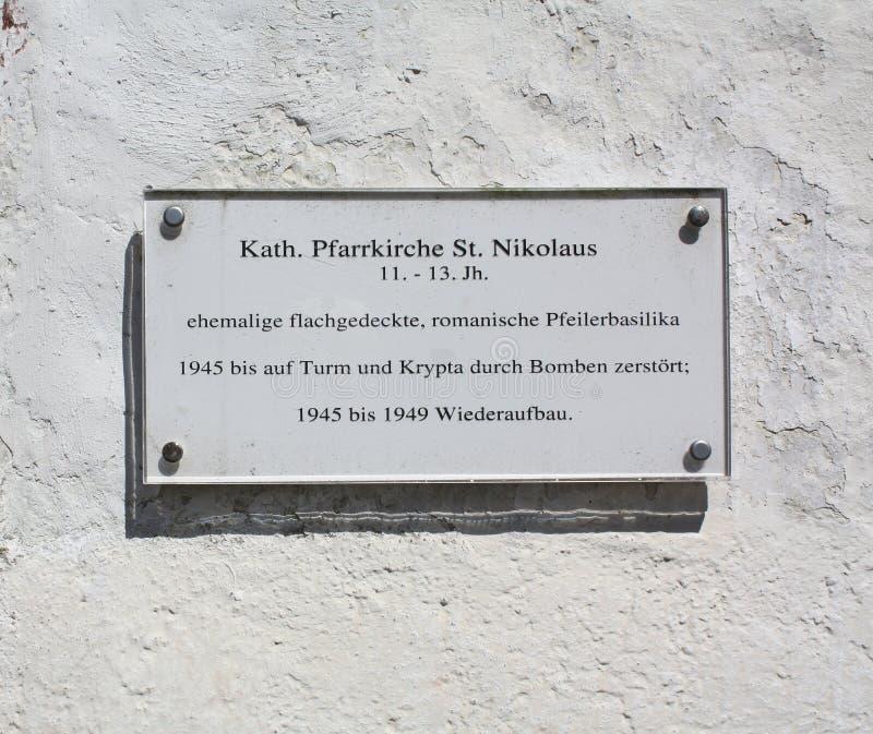 Πίνακας ανακοινώσεων της εκκλησίας Γερμανία στοκ φωτογραφία