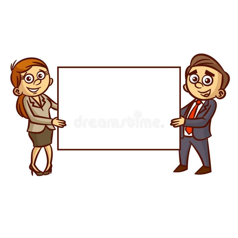 Πίνακας αφισών εκμετάλλευσης επιχειρηματιών και επιχειρηματιών απεικόνιση αποθεμάτων