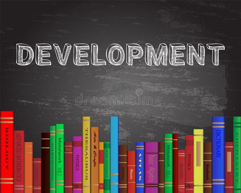Πίνακας βιβλίων ανάπτυξης διανυσματική απεικόνιση