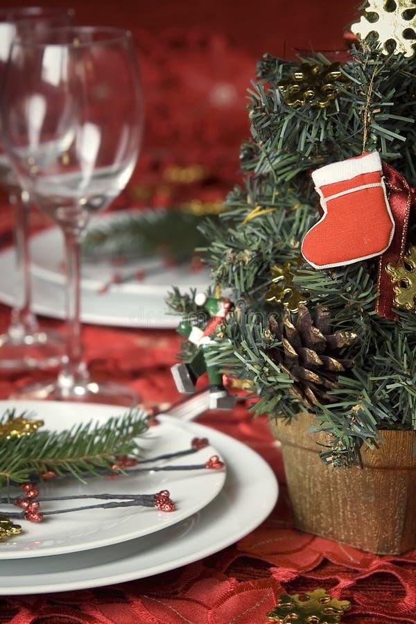 Πίνακας γευμάτων Χριστουγέννων στοκ φωτογραφίες