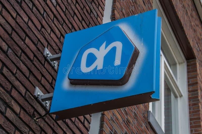 Πίνακας διαφημίσεων από την υπεραγορά AH σε Weesp οι Κάτω Χώρες στοκ φωτογραφία με δικαίωμα ελεύθερης χρήσης