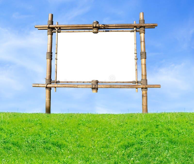 πίνακας διαφημίσεων μπαμπού στοκ εικόνες