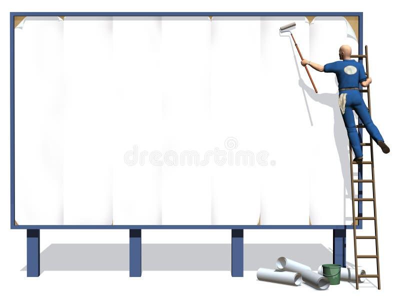 πίνακας διαφημίσεων απεικόνιση αποθεμάτων