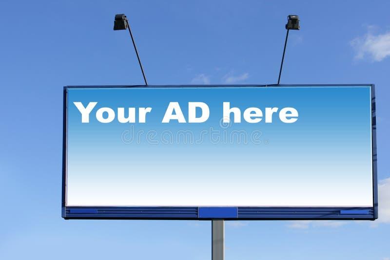 πίνακας διαφημίσεων στοκ εικόνα με δικαίωμα ελεύθερης χρήσης