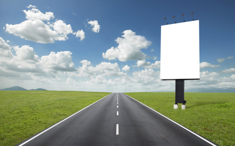 πίνακας διαφημίσεων raod στοκ φωτογραφία με δικαίωμα ελεύθερης χρήσης