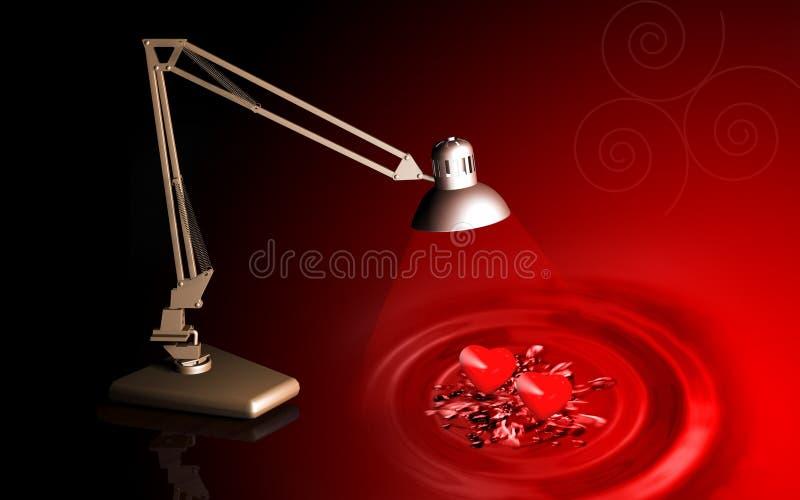 πίνακας δύο λαμπτήρων καρδ& διανυσματική απεικόνιση