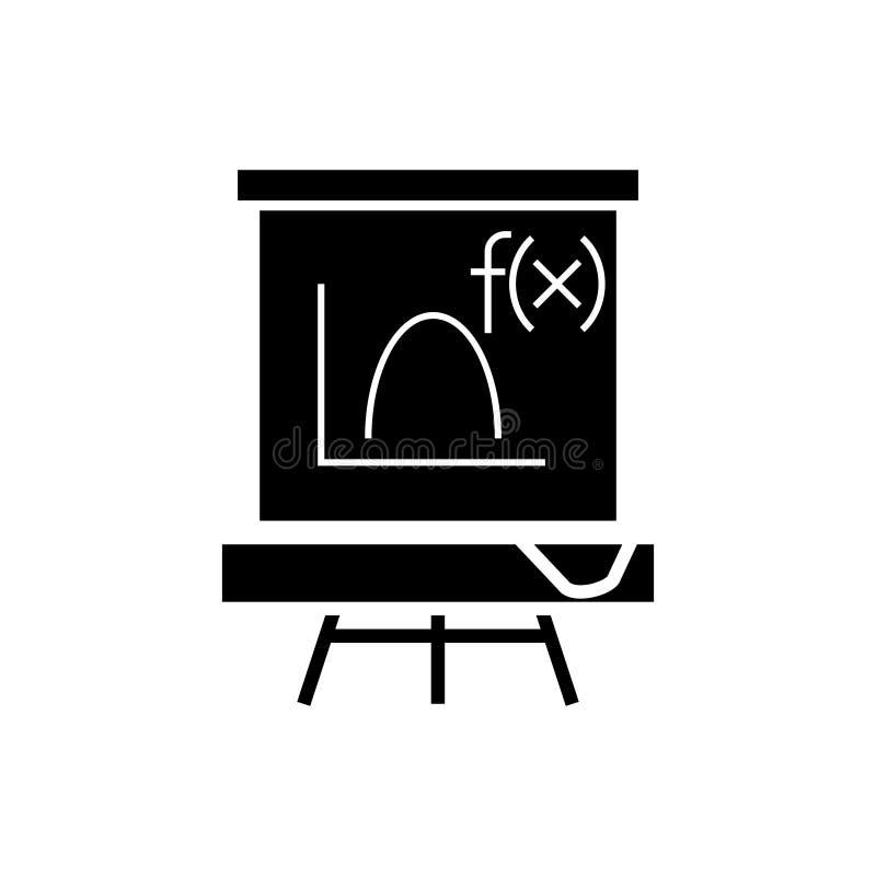 Πίνακας - εικονίδιο μαθηματικών, διανυσματική απεικόνιση, μαύρο σημάδι στο απομονωμένο υπόβαθρο ελεύθερη απεικόνιση δικαιώματος