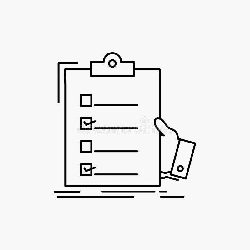 πίνακας ελέγχου, έλεγχος, πείρα, κατάλογος, εικονίδιο γραμμών περιοχών αποκομμάτων : διανυσματική απεικόνιση