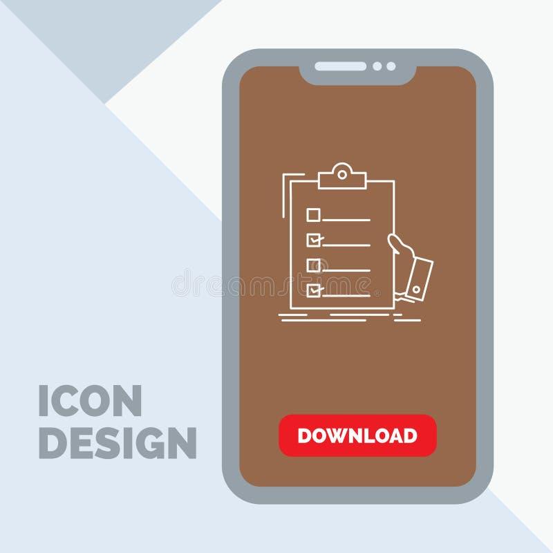 πίνακας ελέγχου, έλεγχος, πείρα, κατάλογος, εικονίδιο γραμμών περιοχών αποκομμάτων σε κινητό για Download τη σελίδα ελεύθερη απεικόνιση δικαιώματος