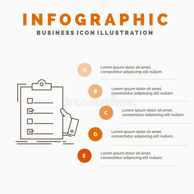 πίνακας ελέγχου, έλεγχος, πείρα, κατάλογος, πρότυπο Infographics περιοχών αποκομμάτων για τον ιστοχώρο και παρουσίαση Γκρίζο εικο ελεύθερη απεικόνιση δικαιώματος